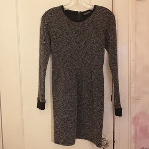 Topshop Grey and Black Marled Print Dress US 4